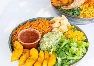 Catfish Vegan Jollof rice