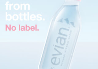 Evian mineral water Middle East