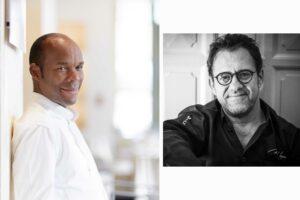 Chefs Marcel Ravin and Michel Sarran