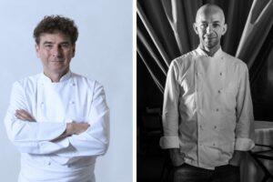 Chefs Franck Cerutti and Riccardo Camanini
